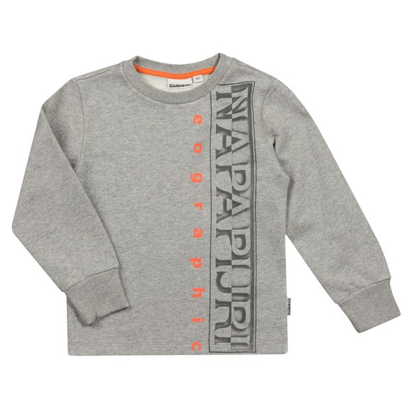 Napapijri Boys Grey K Badyr Sweatshirt