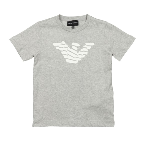 Emporio Armani Boys Grey Large Eagle Logo T Shirt