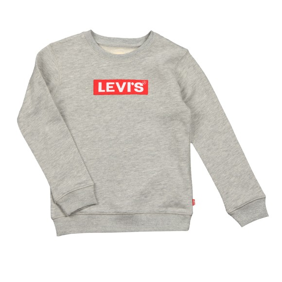 Levi's ® Boys Grey Box Logo Crew Sweatshirt