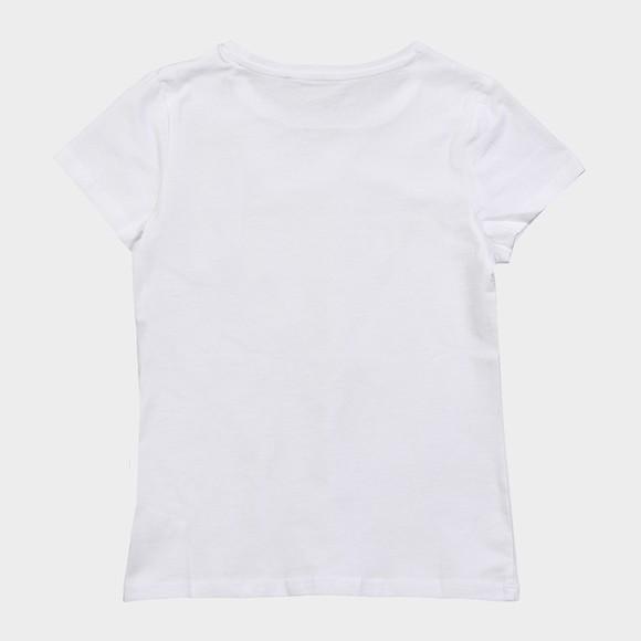 Guess Girls White Heart Triangle T Shirt