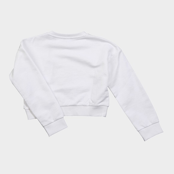 Guess Girls White Icon Triangle Sweatshirt