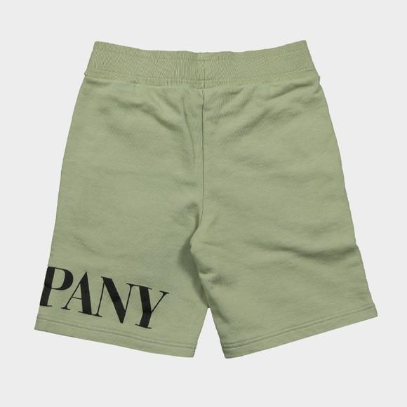 C.P. Company Undersixteen Boys Green Large Logo Jersey Short