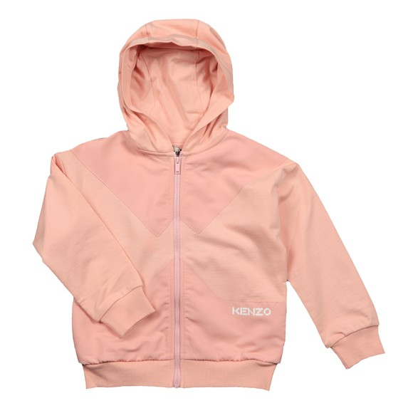Kenzo Kids Girls Pink K15055 Panel Hoody