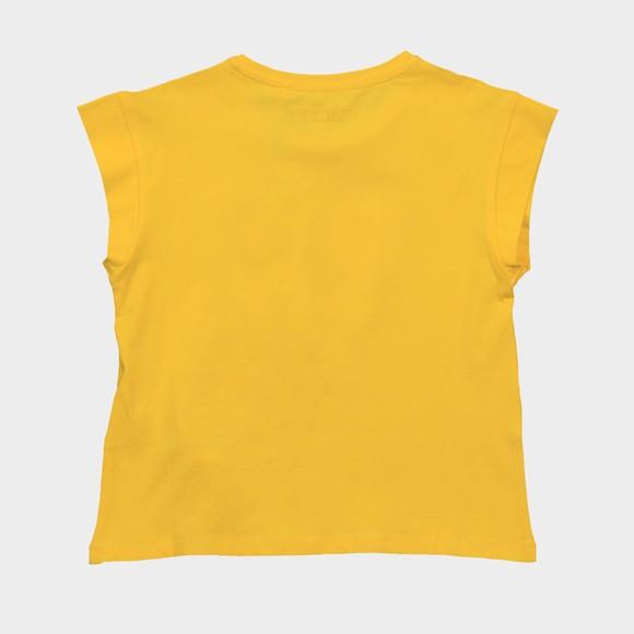 Guess Girls Yellow Diamante Triangle T Shirt