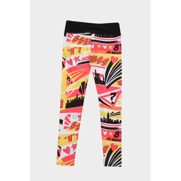 Guess Girls Multicoloured Patterned Active Legging
