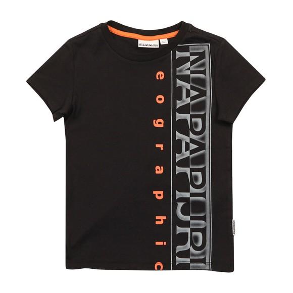 Napapijri Boys Black Sadyr T Shirt