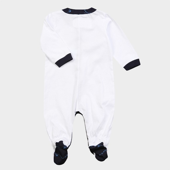 Emporio Armani Baby Boys White Signature All In One