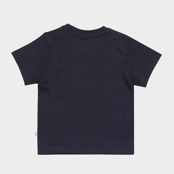 BOSS Baby Boys Blue Centre Logo T Shirt