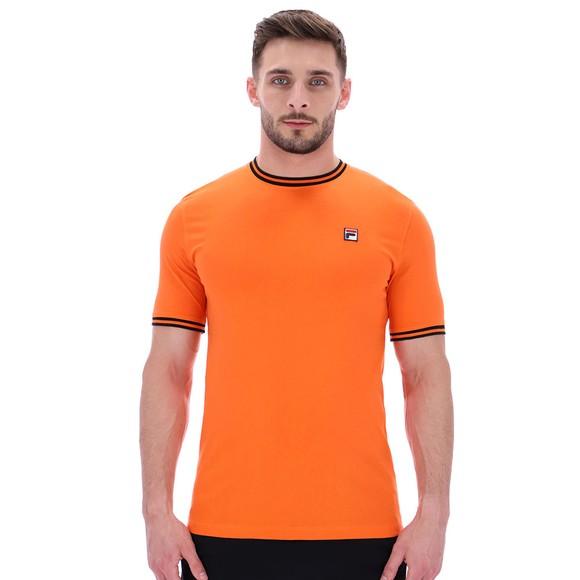 Fila Mens Orange Flank Ringer T-Shirt