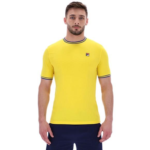 Fila Mens Yellow Flank Ringer T-Shirt