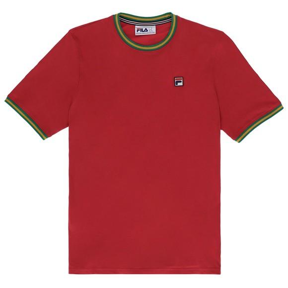 Fila Mens Red Flank Ringer T-Shirt