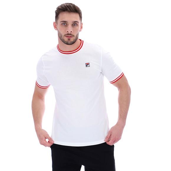 Fila Mens White Flank Ringer T-Shirt