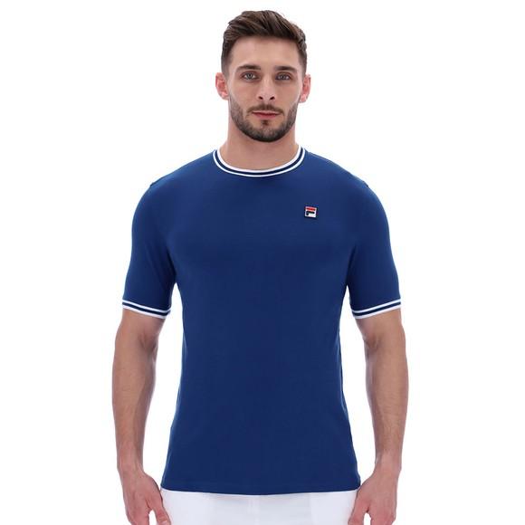 Fila Mens Blue Flank Ringer T-Shirt
