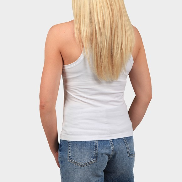 Calvin Klein Jeans Womens White Shine Logo Racer Back Vest main image