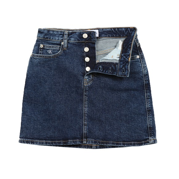 Calvin Klein Jeans Womens Blue High Rise Mini Skirt