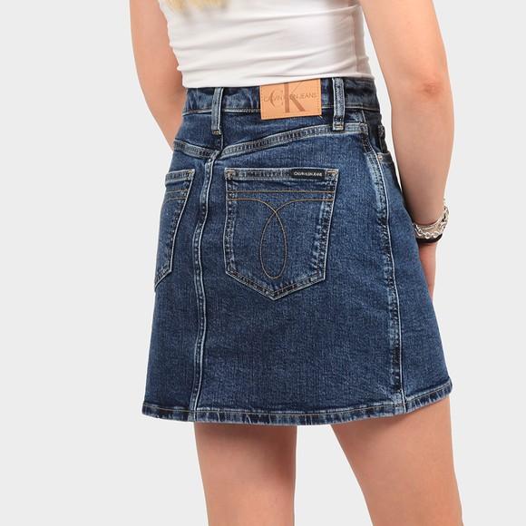 Calvin Klein Jeans Womens Blue High Rise Mini Skirt main image