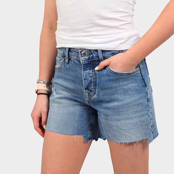 Superdry Womens Blue Mid Rise Slim Short main image