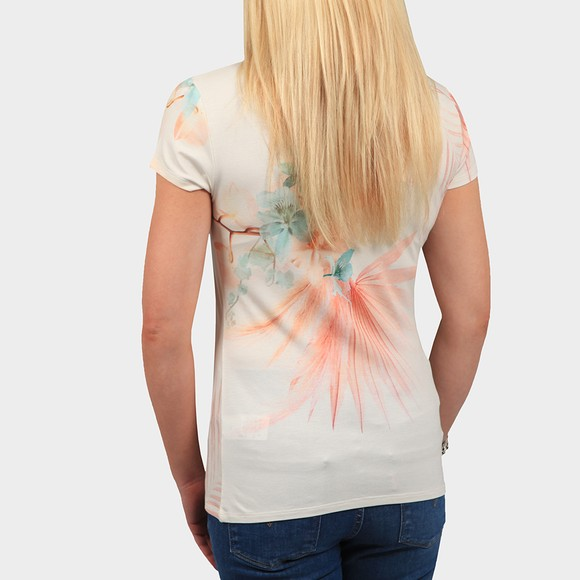 Ted Baker Womens Off-White Serahna Printed Fitted T Shirt main image
