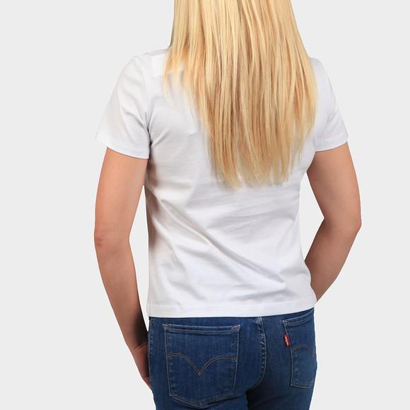 Calvin Klein Jeans Womens White Shine Logo T Shirt main image