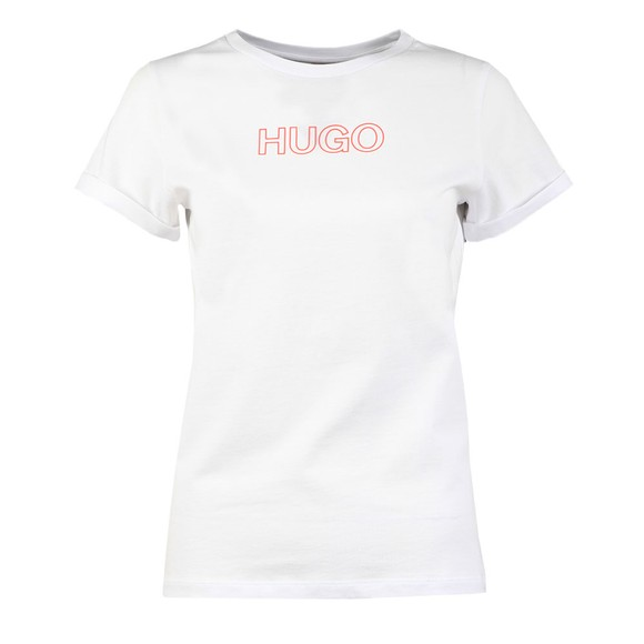HUGO Womens White The Slim 6 T Shirt