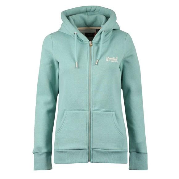 Superdry Womens Green OL Classic Zip-Hood