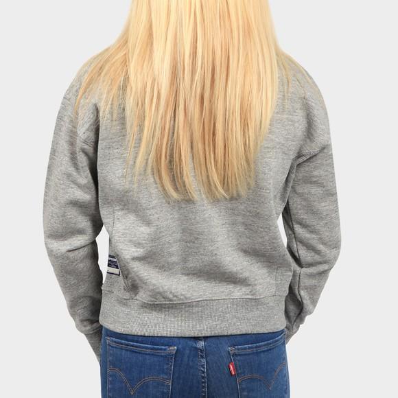 Superdry Womens Grey Sportstyle Essential 1/4 Zip Sweatshirt main image