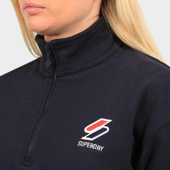 Superdry Womens Blue Sportstyle Essential 1/4 Zip Sweatshirt main image