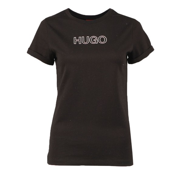 HUGO Womens Black The Slim 6 T Shirt