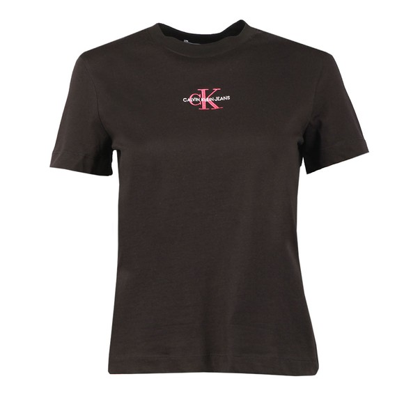 Calvin Klein Jeans Womens Black Monogram Logo T Shirt