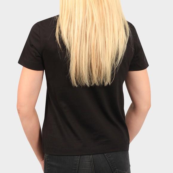 Calvin Klein Jeans Womens Black Monogram Logo T Shirt main image