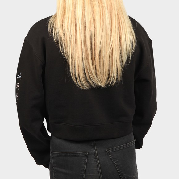 Calvin Klein Jeans Womens Black Shine Logo Crew Neck Sweatshirt main image