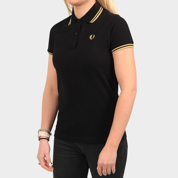 Fred Perry Womens Black Made In England Twin Tipped Polo Shirt