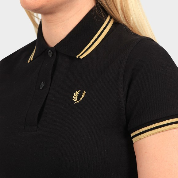 Fred Perry Womens Black Made In England Twin Tipped Polo Shirt main image