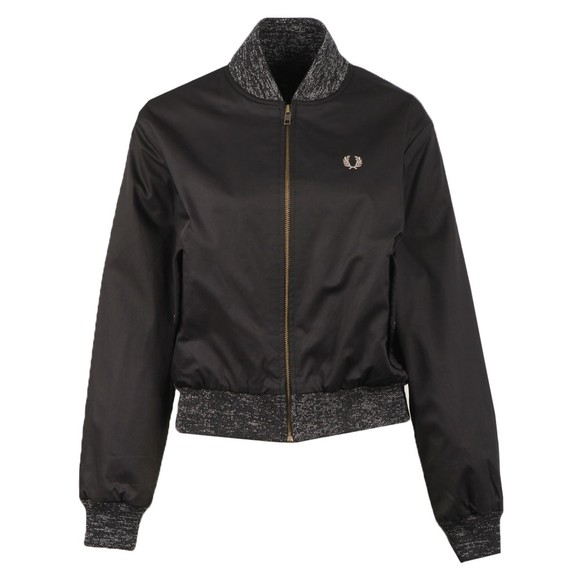 Fred Perry Womens Black Space Dye Trim Bomber Jacket