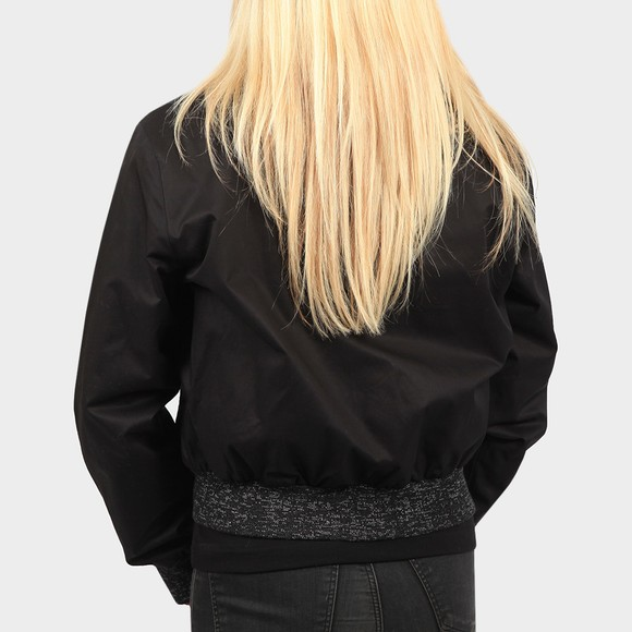 Fred Perry Womens Black Space Dye Trim Bomber Jacket main image