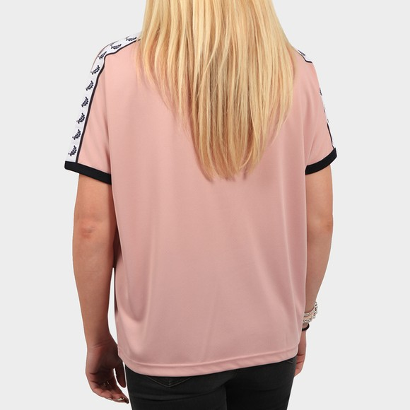 Fred Perry Womens Pink Boxy Taped Ringer T Shirt main image