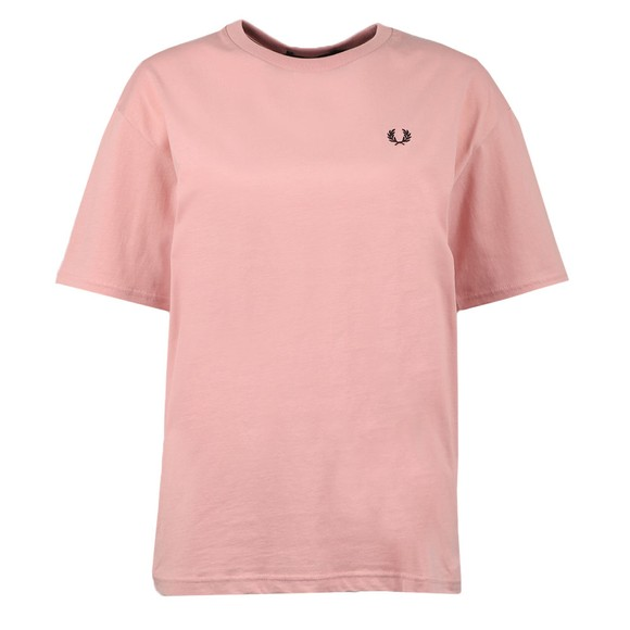 Fred Perry Womens Pink Crew Neck T Shirt