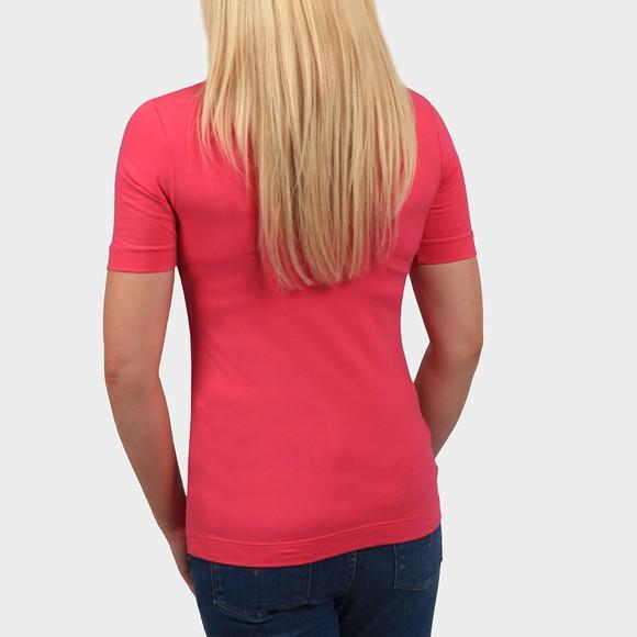 Calvin Klein Jeans Womens Pink Micro Branding Stretch High Neck T Shirt main image
