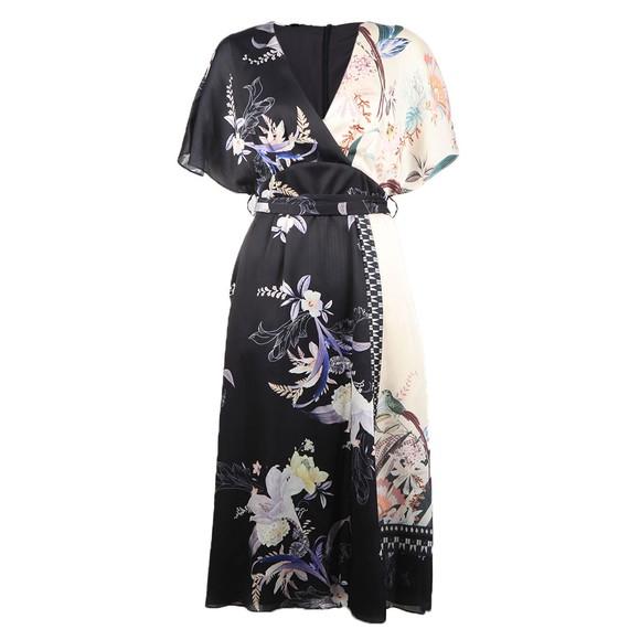 Ted Baker Womens Blue Niita Decadence Wrap Midi Dress