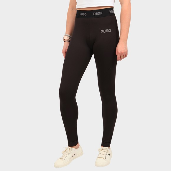HUGO Womens Black Nasabe Logo Legging