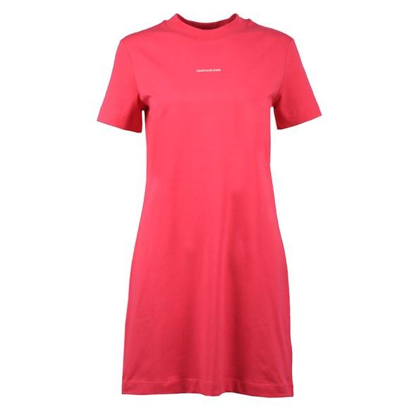Calvin Klein Jeans Womens Pink Micro Branding T-Shirt Dress main image