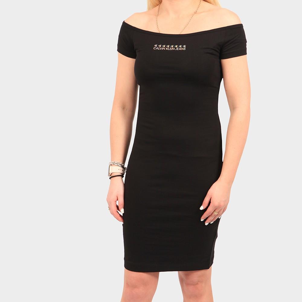 Shine Logo Bardot Dress main image