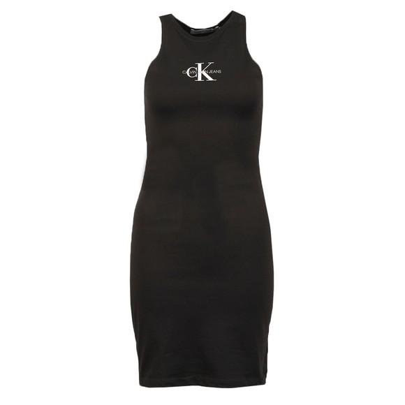 Calvin Klein Jeans Womens Black Monogram Tank Dress