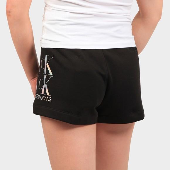 Calvin Klein Jeans Womens Black Shine Logo Sweat Short main image
