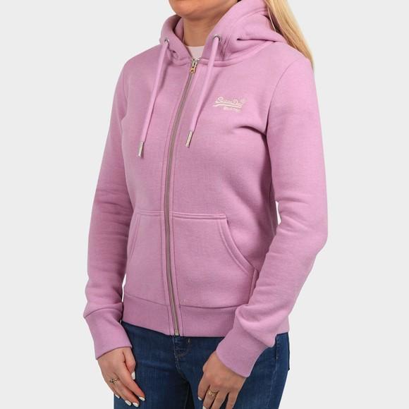 Superdry Womens Pink OL Classic Zip-Hood