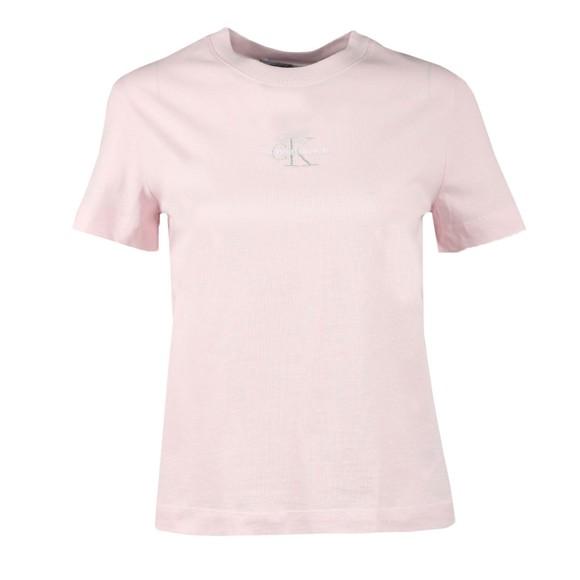Calvin Klein Jeans Womens Pink Monogram Logo T Shirt