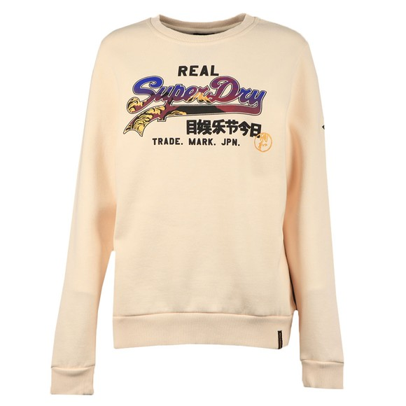 Superdry Womens Off-White Itago Crew Sweatshirt