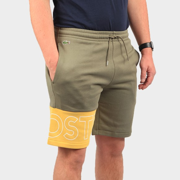 Lacoste Mens Green GH0521 Logo Colourblock Short