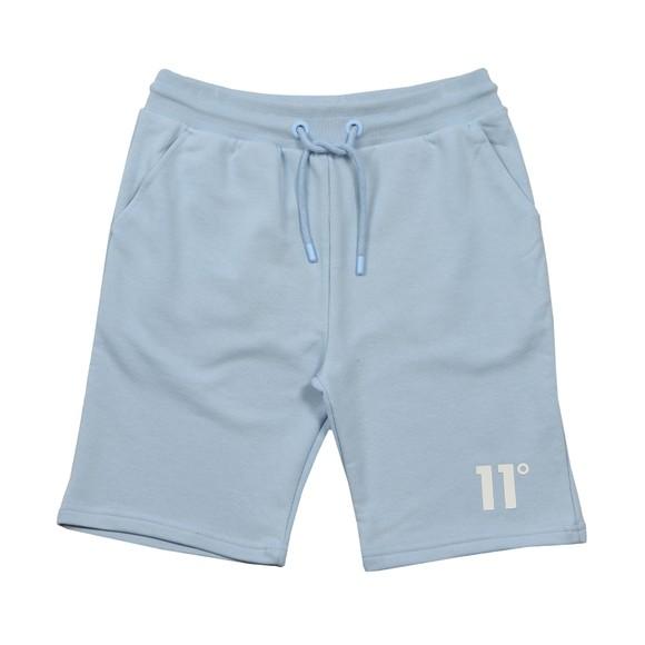 Eleven Degrees Mens Blue Core Logo Sweatshort