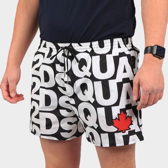 Dsquared2 Mens Black Large Logo Swim Short